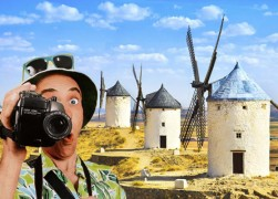 туристы в испании