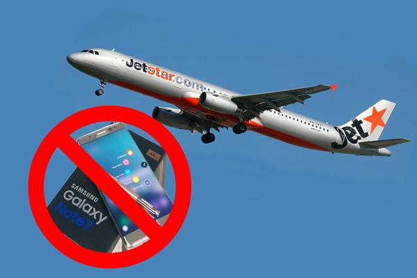 в самолетах нельзя пользоваться Galaxy Note 7