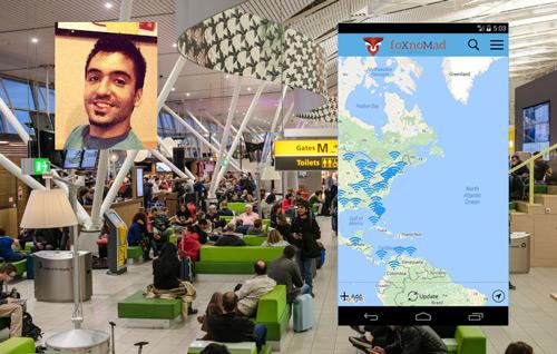 приложение WiFox для поиска Wi-Fi в аэропортах