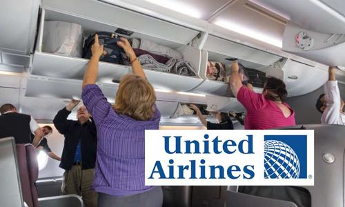 United Airlines берет деньги за ручную кладь