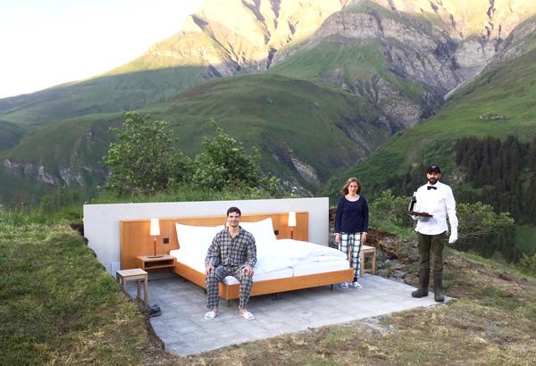 отель Null Stern в швейцарских альпах