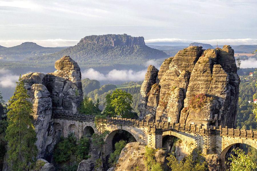 парк саксонская швейцария германия