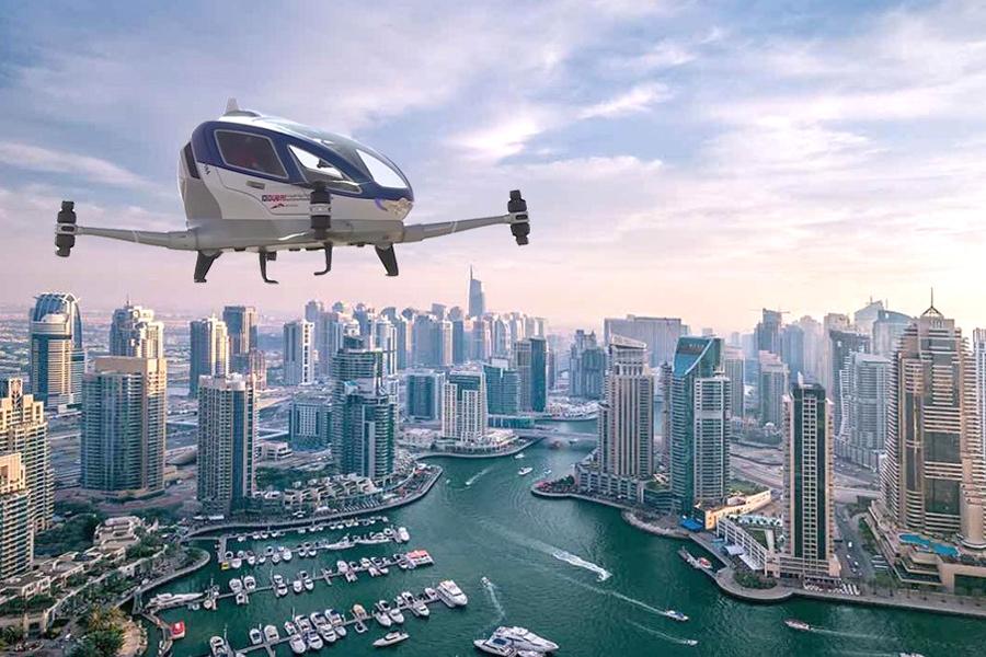Такси под руководством дрона