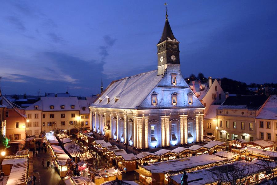 лучшие рождественские ярмарки европы Монбельяр