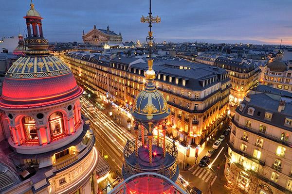 новогодний париж праздничная иллюминация