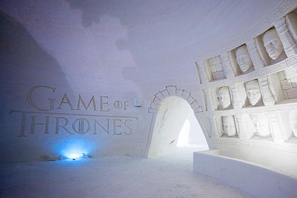 ледяной отель игра пристолов в финляндии