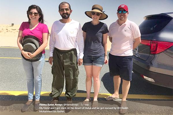 туристы и премьер-министр ОАЭ
