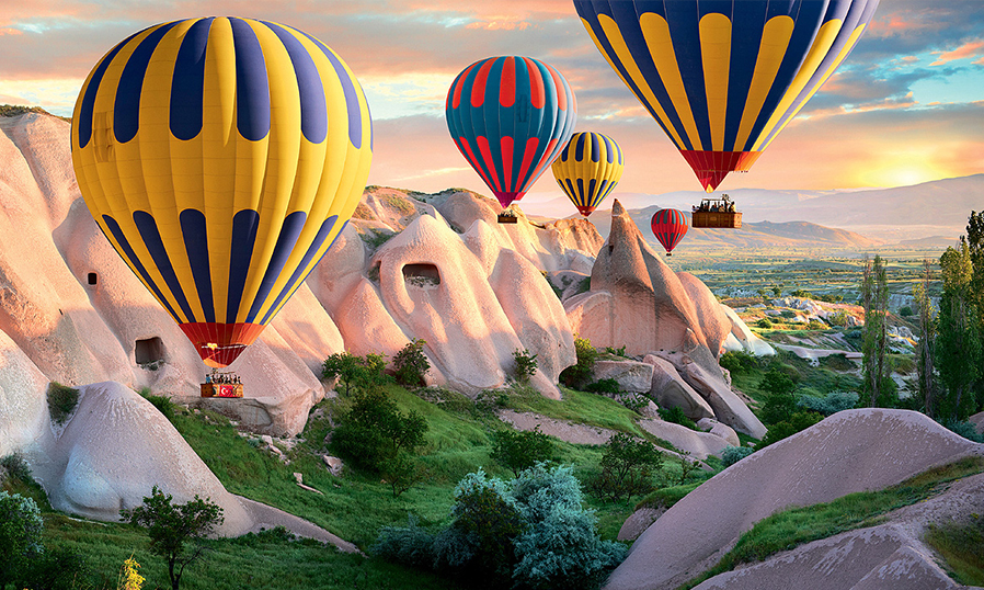 Полет на воздушном шаре в Каппадокии в Турции