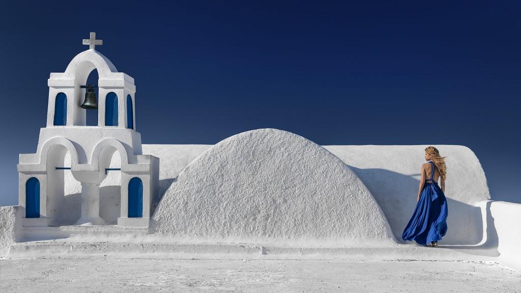 Белый и голубой - национальные цвета Греции