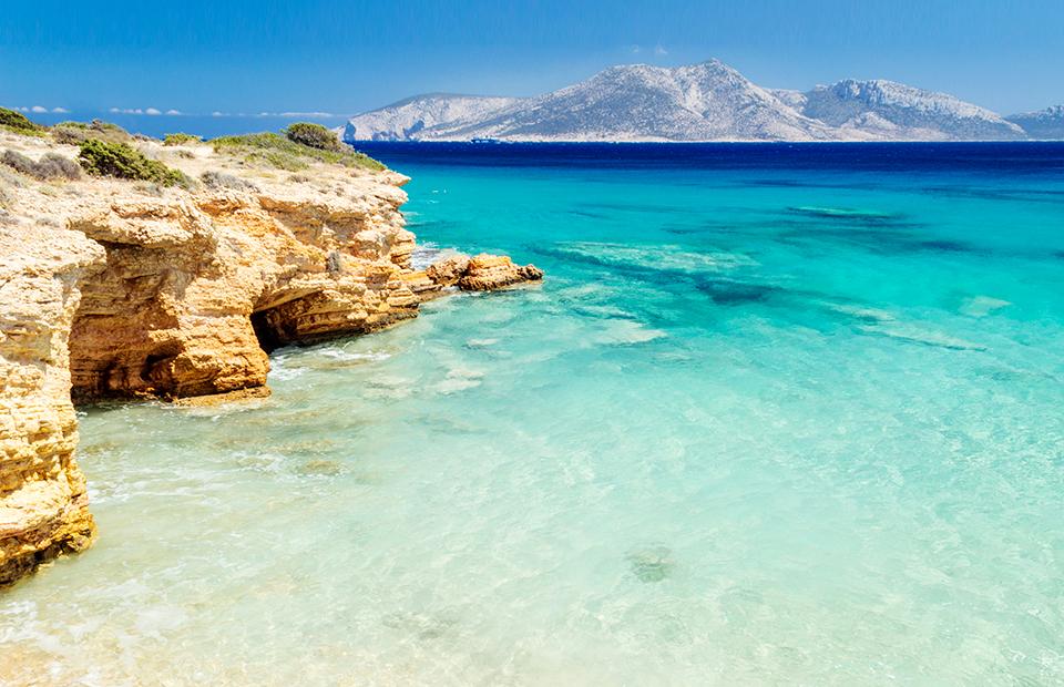 Пляж Пори на греческом острове Куфониья