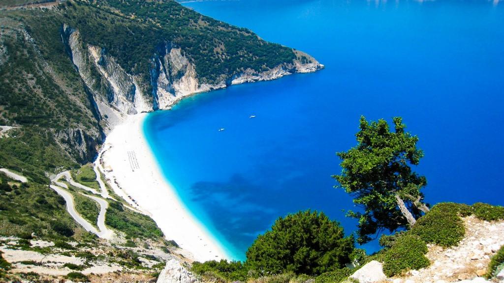 Пляж Миртос в Кефалонии, Греция