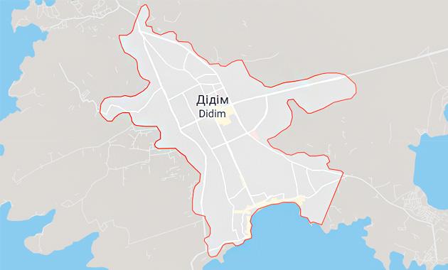 Карта Дидим, Турция