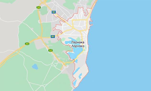 Карта Ларнаки, Кипр