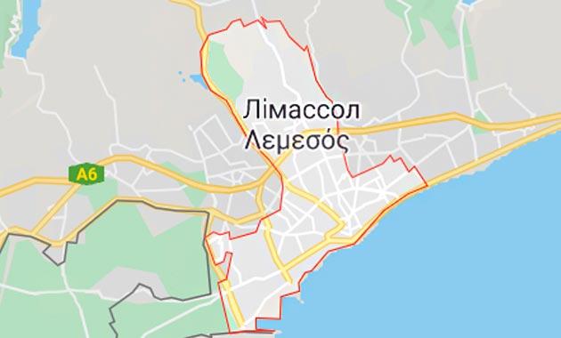 Карта Лимассола