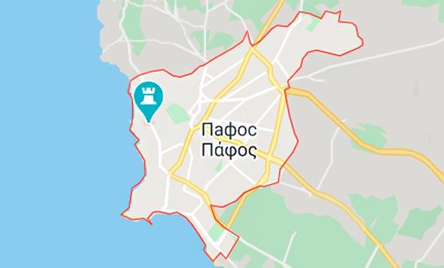Карта Пафоса, Кипр