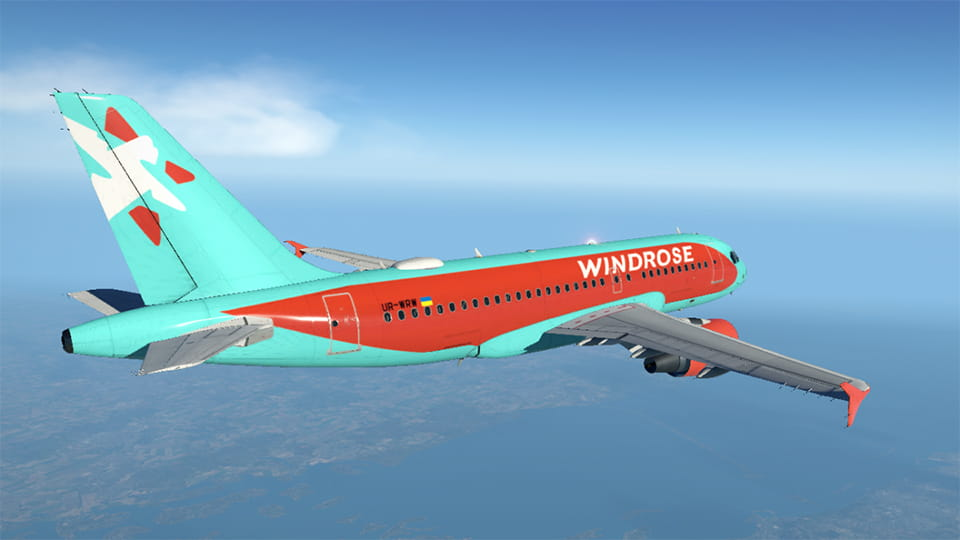 Самолет авиакомпании Windrose