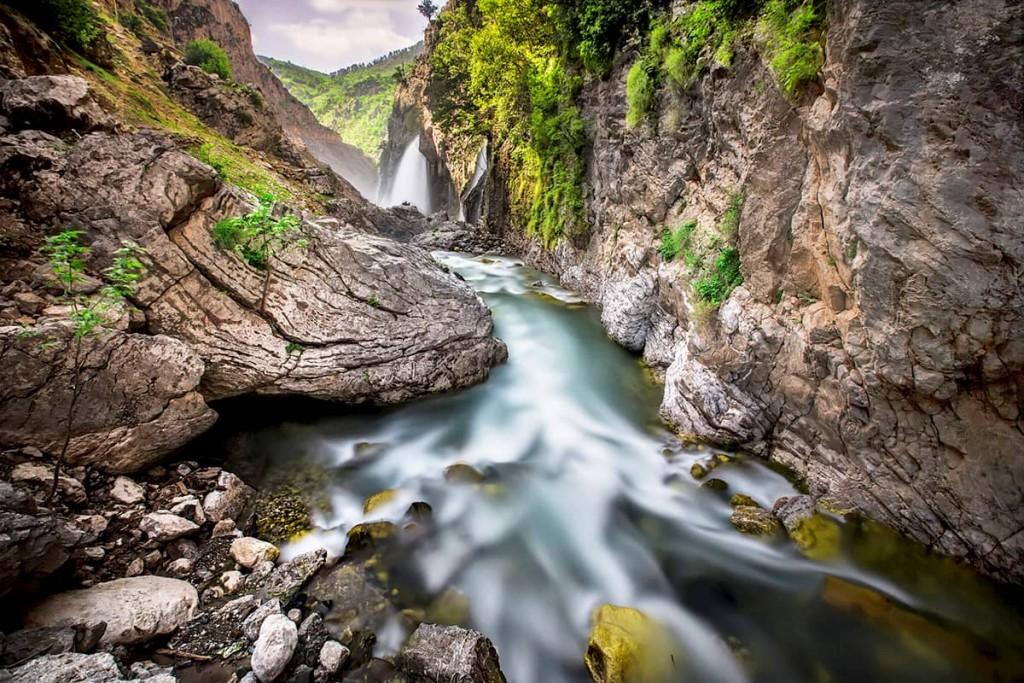 Водопад Казпубаши в Кайсери, Турция
