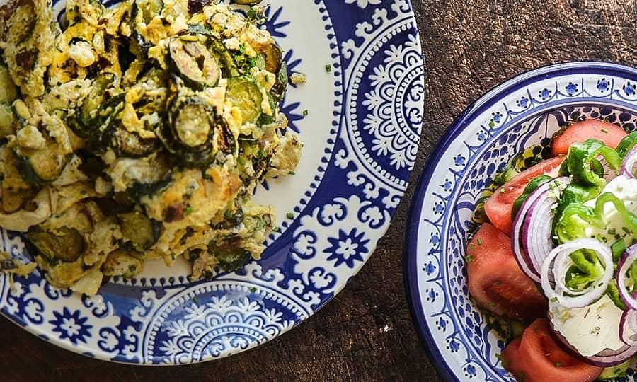 Национальная кухня Кипра - Кабачки в яйце