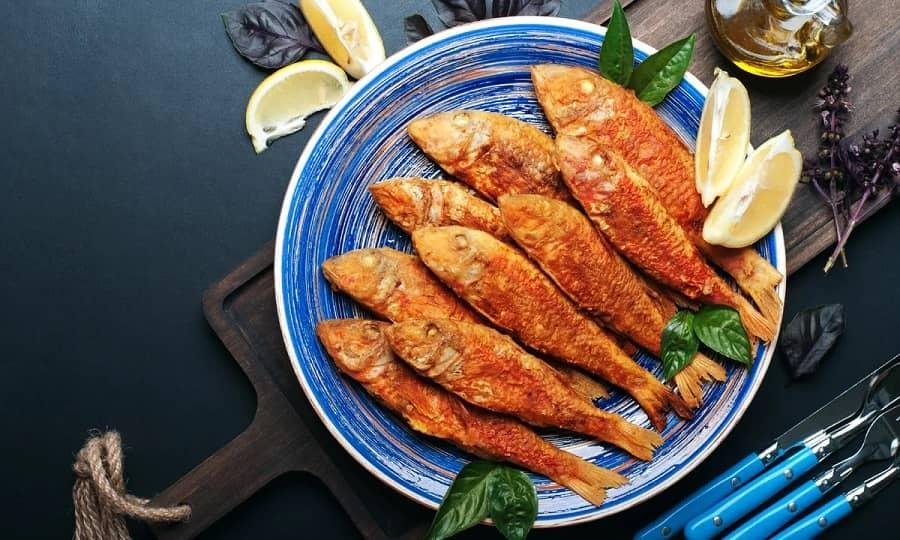 Национальная кухня Кипра - Жареная красная кефаль