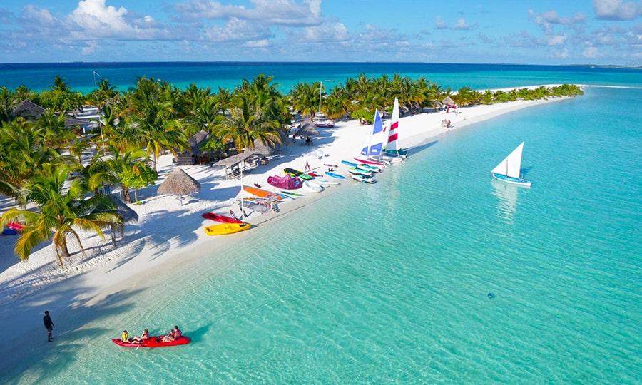 Пляжи Мальдив - Налагураиду