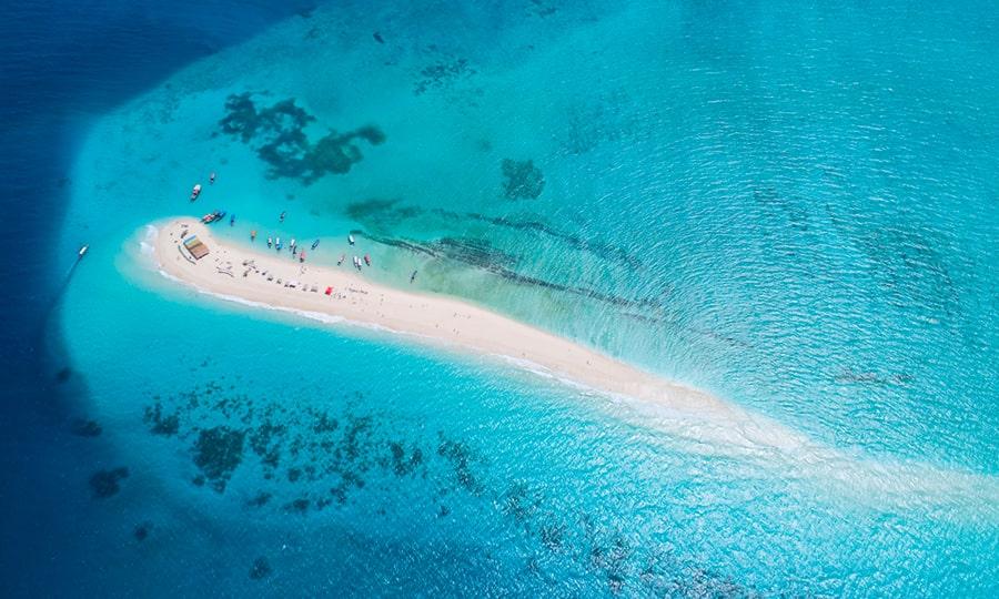 занзибар достопримечательности - Исчезающий остров. Пляж Накупенда