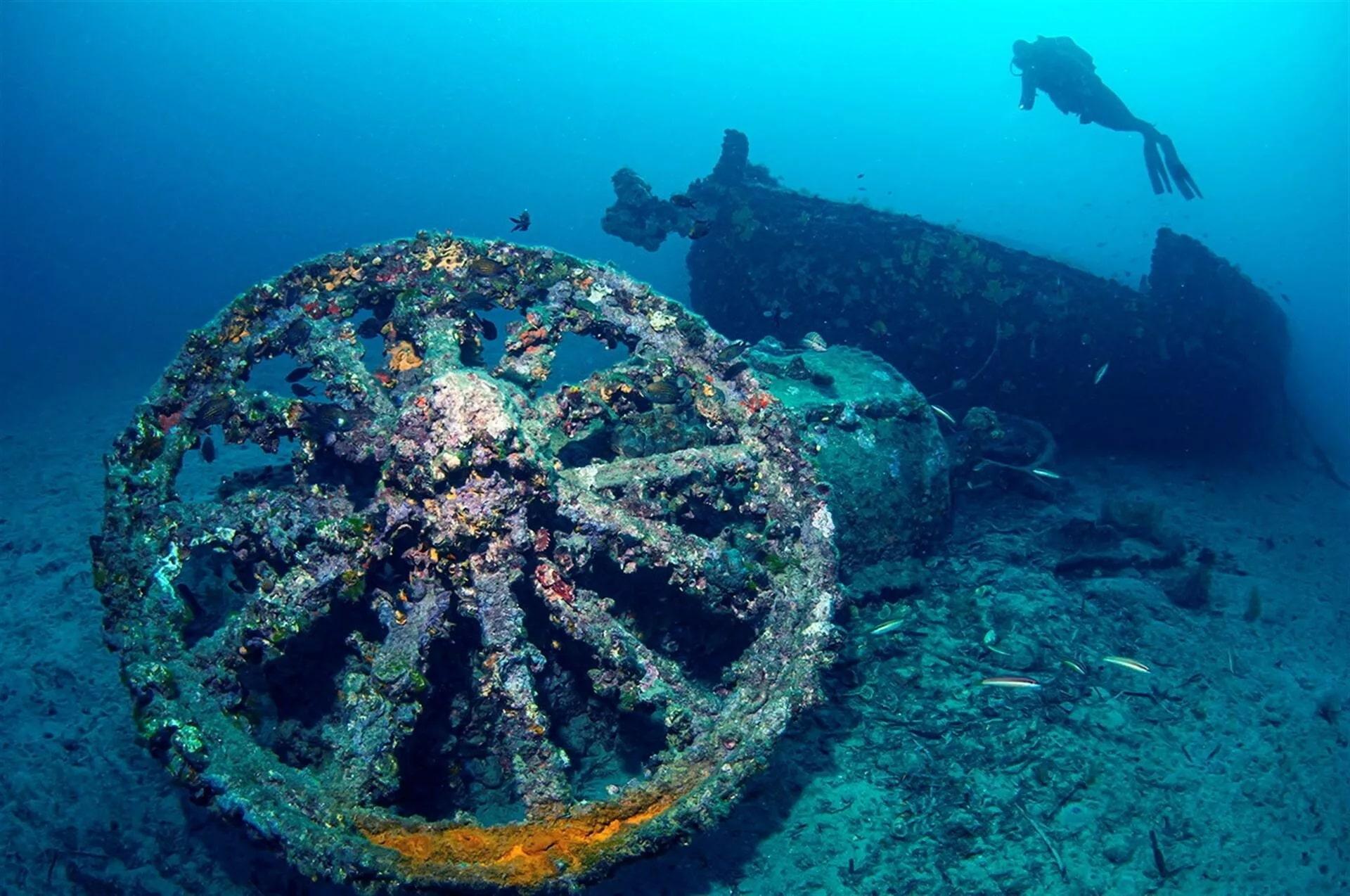 В Турции открыли парк с затонувшими кораблями