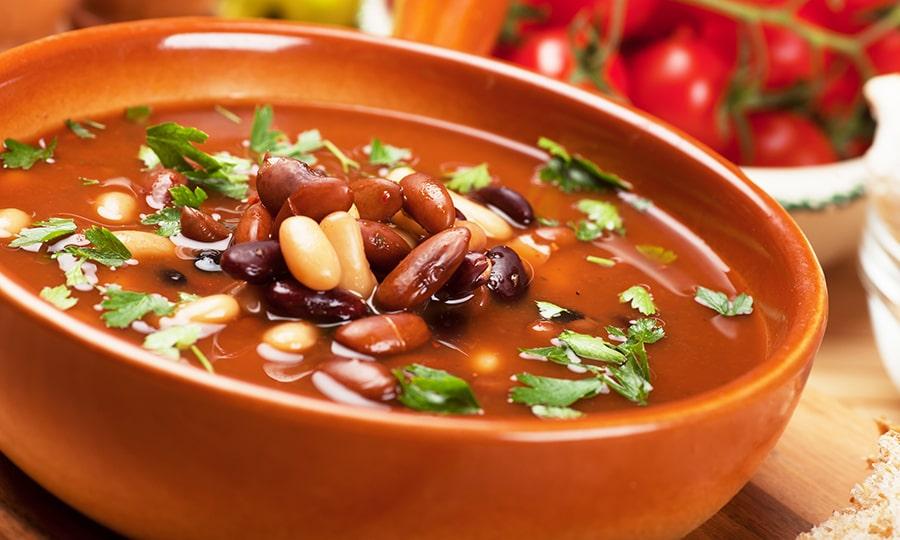 Кухня Мексики - Суп из фасоли